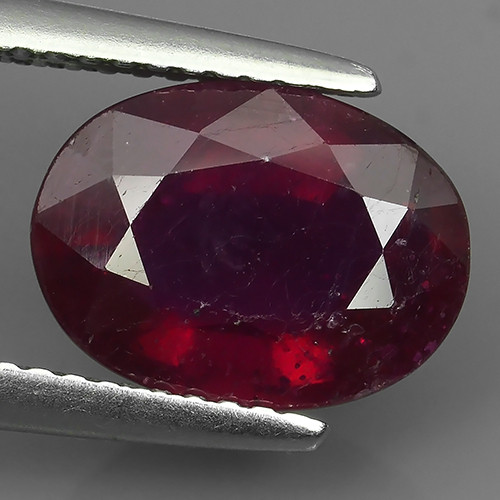4.00 cts Gorgeous!Jumbo!pear Facet Top Blood Red Natural Ruby Madagascar!
