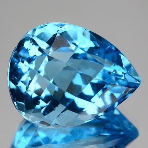 19.67 CTS FANCY SWISS BLUE  COLOR  TOPAZ NATURAL GEMSTONE