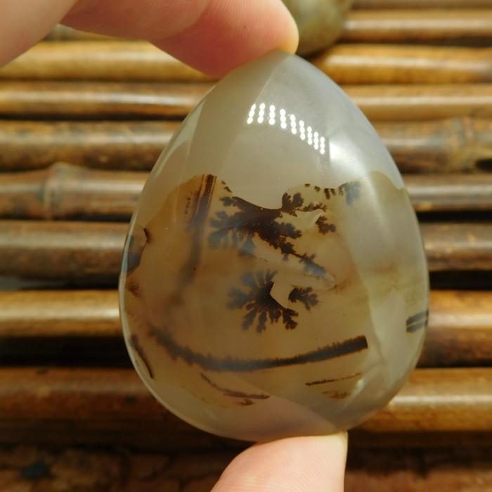 Rare agate cabochon montana agate cabchon pendant (G0455)