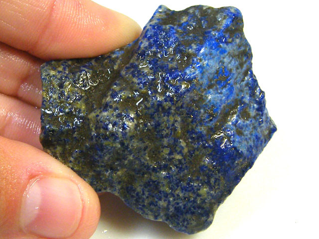 NATURAL AFGHANISTAN LAPIS  ROUGH  185 CTS SGS 1161