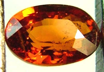 GARNET SPESSARTITE FACETED 0.65 CTS  FN 4472  (PG-GR)