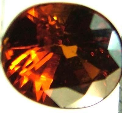 GARNET SPESSARTITE FACETED 1 CTS  FN 4476  (PG-GR)