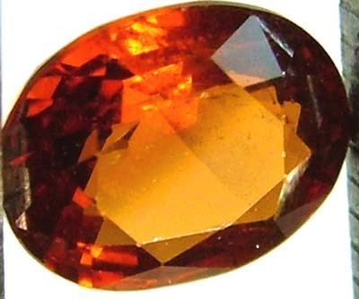 GARNET SPESSARTITE FACETED 1.05 CTS  FN 4496  (PG-GR)