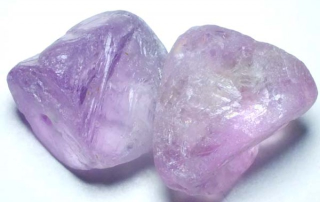 AMETHYST DRILLED BEAD (2PCS) 87.40CTS NP-1472