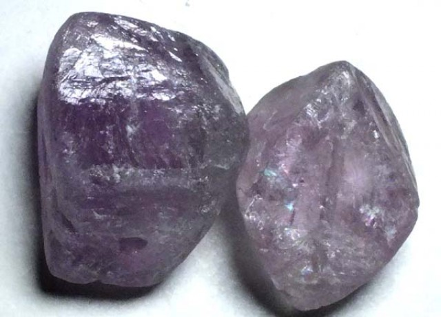 AMETHYST DRILLED BEAD (2PC) 97.80CTS NP-1487