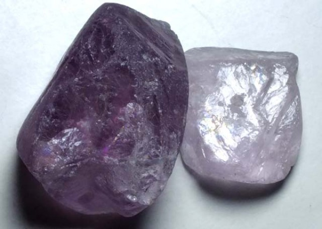 AMETHYST DRILLED BEAD (2PCS) 110.35CTS NP-1481