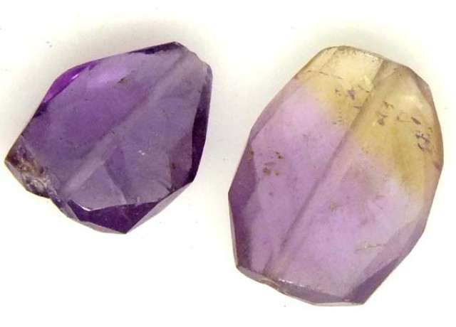 AMETHYST FACETED BEAD 2 PCS 9.70 CTS  NP-1377