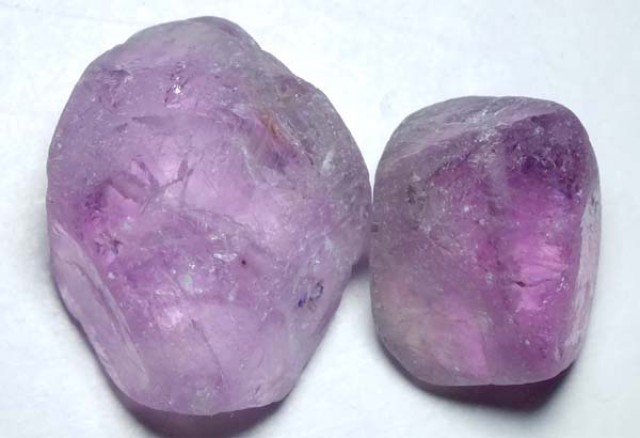 AMETHYST BEAD DRILLED (2PC) 97.50CTS NP-1450