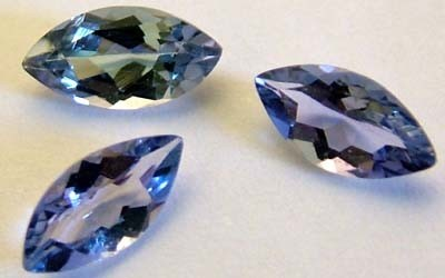 BLUE TANZANITE STONE FACETED 0.90  CTS FN 4790 (TBG-GR)