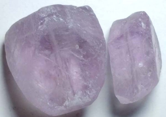 AMETHYST DRILLED BEAD (2PCS) 89.95CTS NP-1478