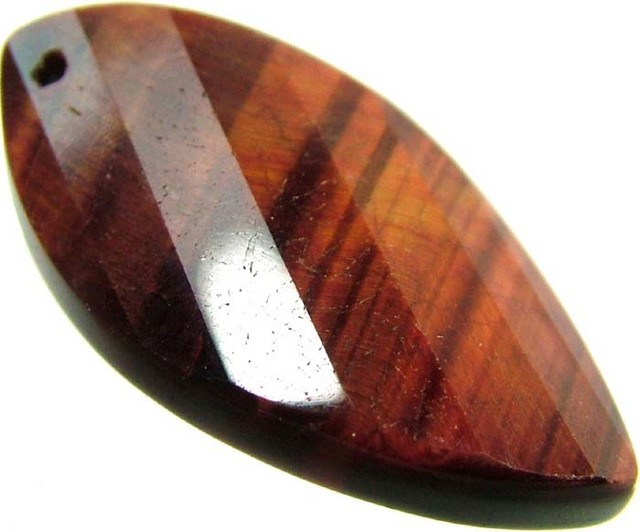 TIGER EYE RED -DRILLED TOP 11.8 CTS [MX2575]