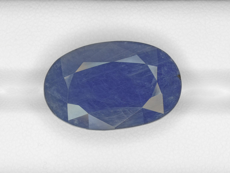 Blue Sapphire, 30.41ct - Mined in Burma | Certified by GRS & AIGS