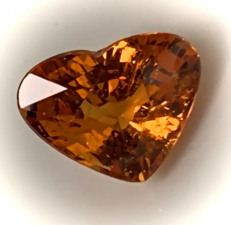 1.22ct Fanta Mandarin Orange Heart Natural gem