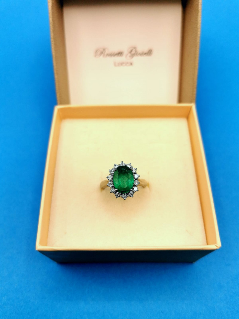 2,40ct Colombian Emerald 18k Solid Gold Ring 15/23 Colombian Emeralds Colom