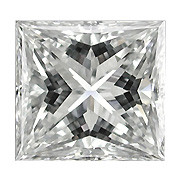 0.12 ct Princess Cut Diamond  (E / VS1)