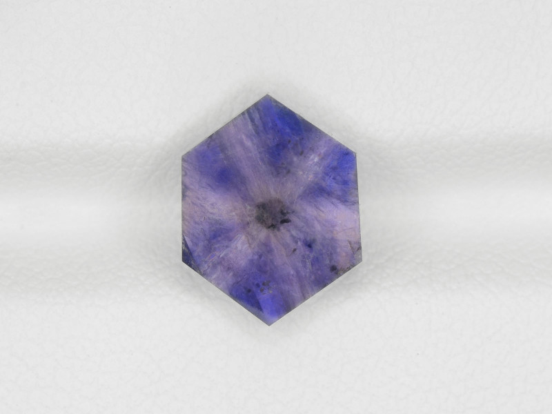 Trapiche Sapphire, 2.60ct - Mined in Afghanistan | Certified by IGI