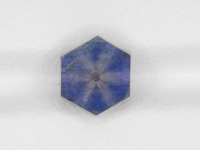 Trapiche Sapphire, 3.20ct - Mined in Afghanistan   Certified by IGI
