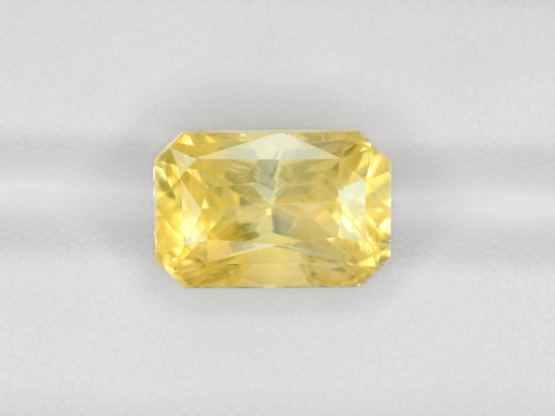 Yellow Sapphire, 12.16ct - Mined in Sri Lanka | Certified by GIA