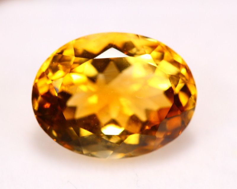 5.03Ct Natural Yellow Citrine Oval Cut Lot LZ6509