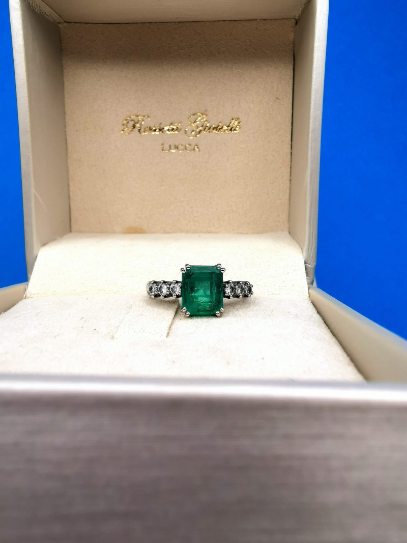 2,18ct Colombian Emerald 18k Solid Gold Ring Colombian Emeralds Colombian E
