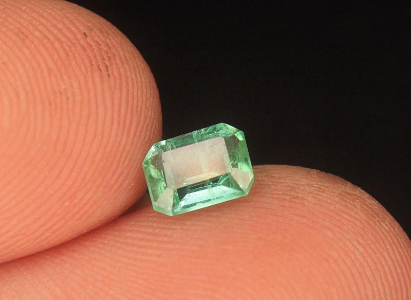 Afghani Emerald Gemstone in Emerald Cut From Afghanistan