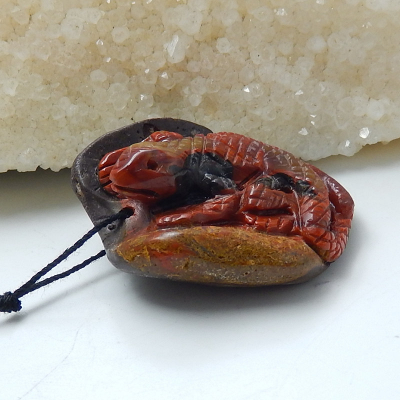 Hand Carved Natural Warring Agate Astract Pendant Bead ,Wholesale Jewelry C