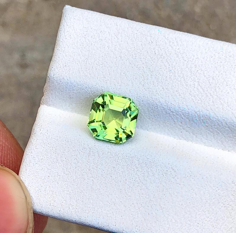 2 Ct Natural Greenish Transparent Tourmaline Ring Size Gemstone