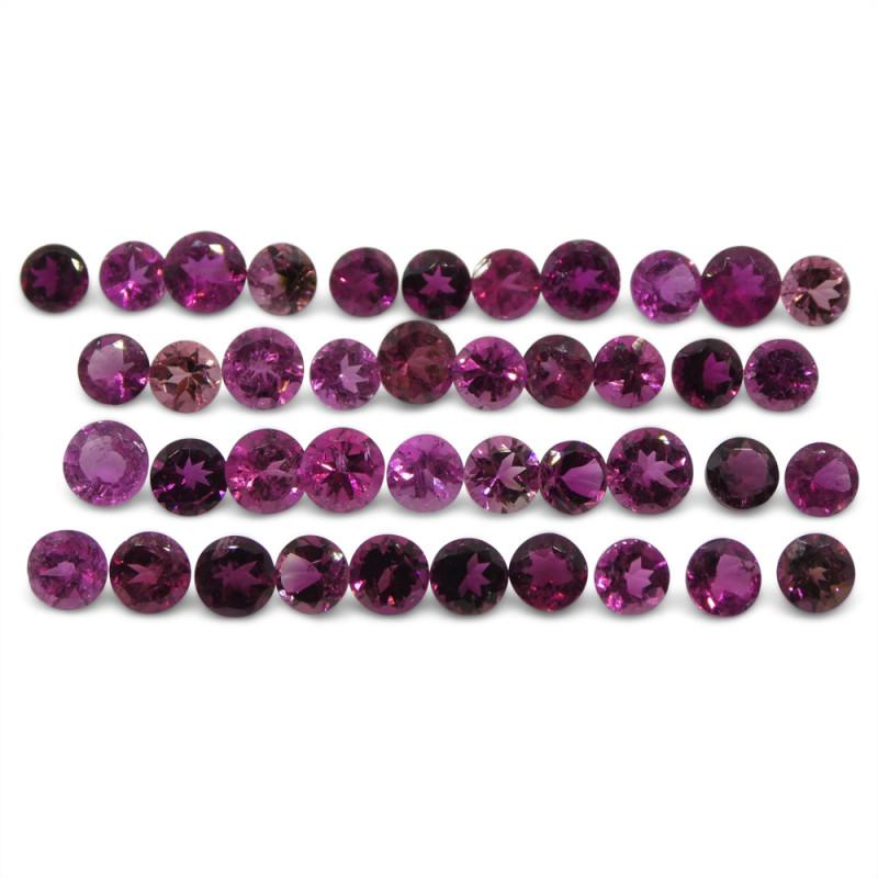 11.93 ct Pink Tourmaline Round Wholesale Lot