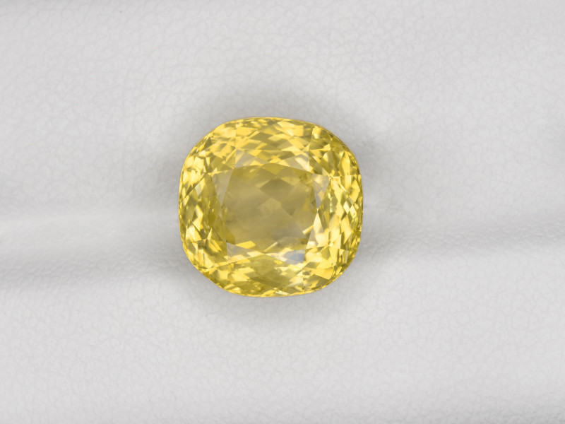 Yellow Sapphire, 10.02ct - Mined in Sri Lanka   Certified by GRS
