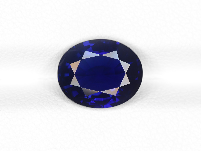 Blue Sapphire, 3.48ct - Mined in Kashmir | Certified by GIA & IGI