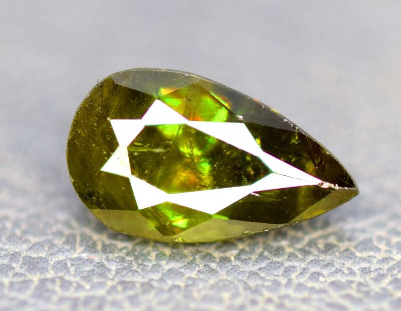 5.00 Carats Full Fire Chrome Sphene Gemstone From Pakistan