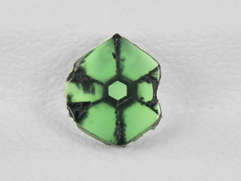 Trapiche Emerald, 0.74ct - Mined in Colombia   Certified by IGI