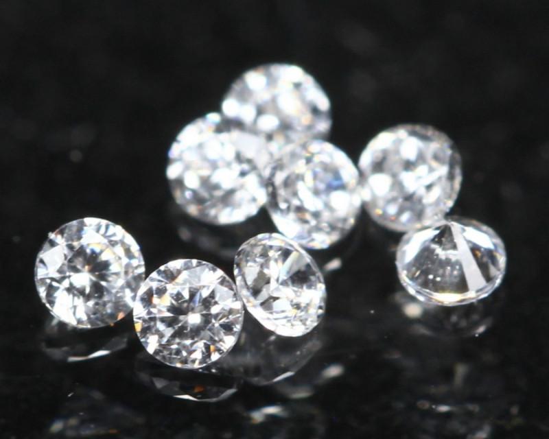 1.40mm D/F/VS 8Pcs Natural White Diamond A2411