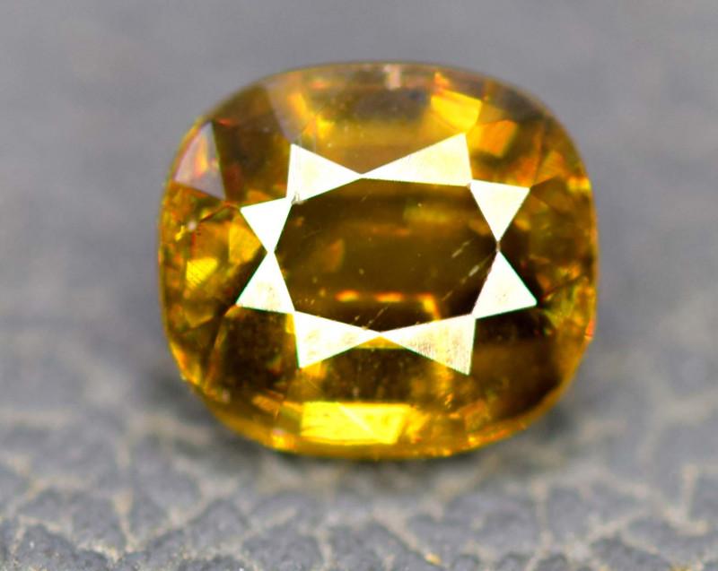 1.30 cts Natural Full Fire Chrome Sphene Titanite Gemstone