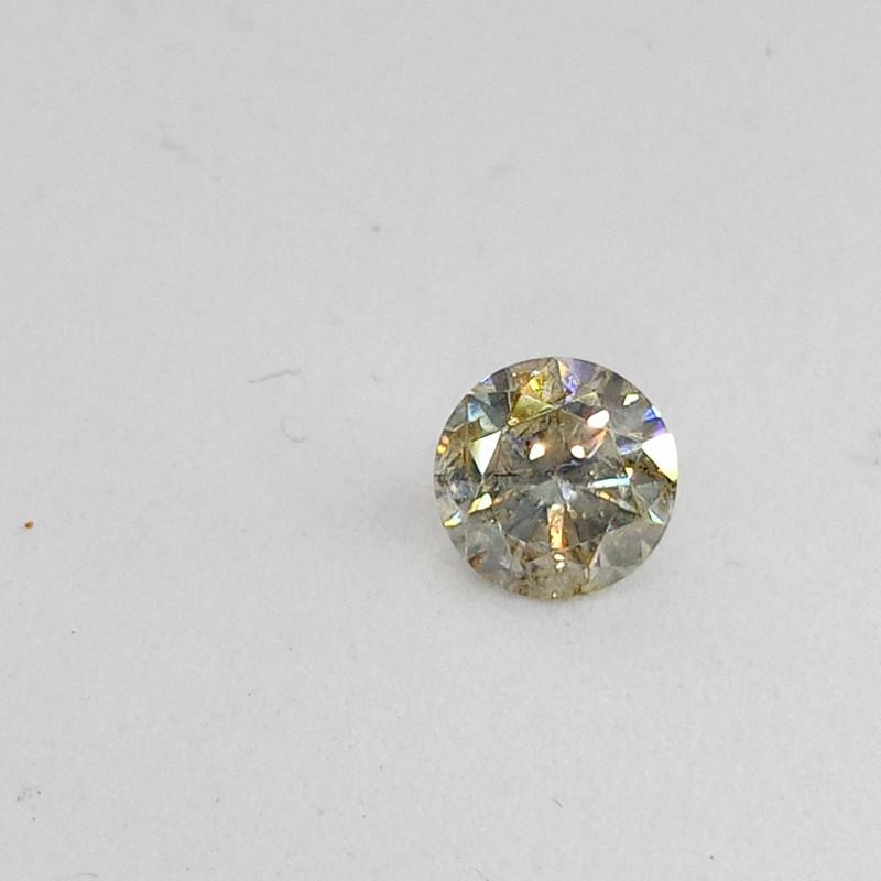 0.505ct Light greenish Yellow  Diamond , 100% Natural Untreated