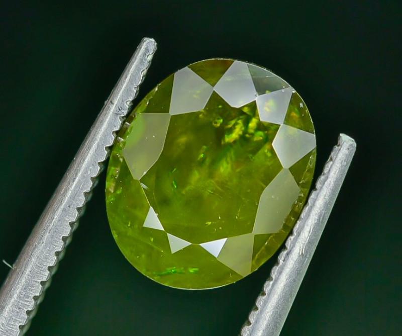 3.05 Crt Natural Chrome Sphene Faceted Gemstone