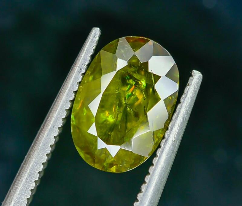 2.20 Crt Natural Chrome Sphene Faceted Gemstone