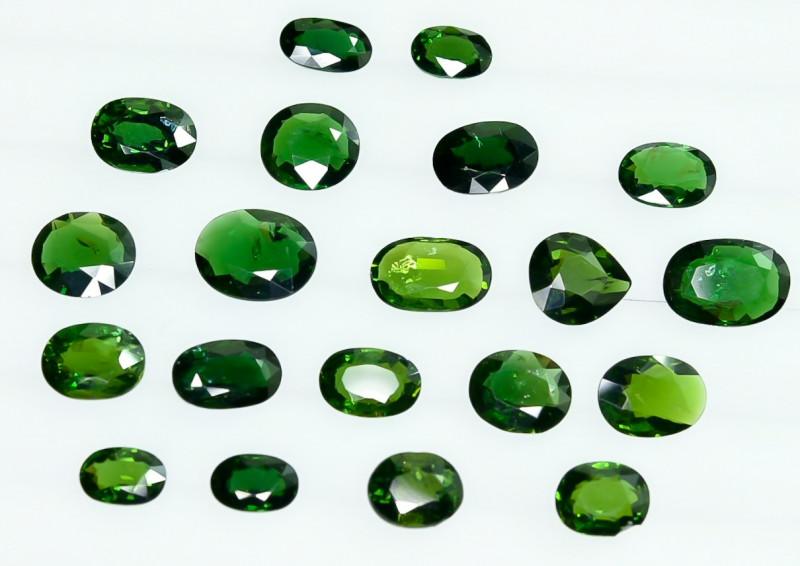 18.30 Crt Natural Chrome Tourmaline  Faceted Gemstone Lot 6