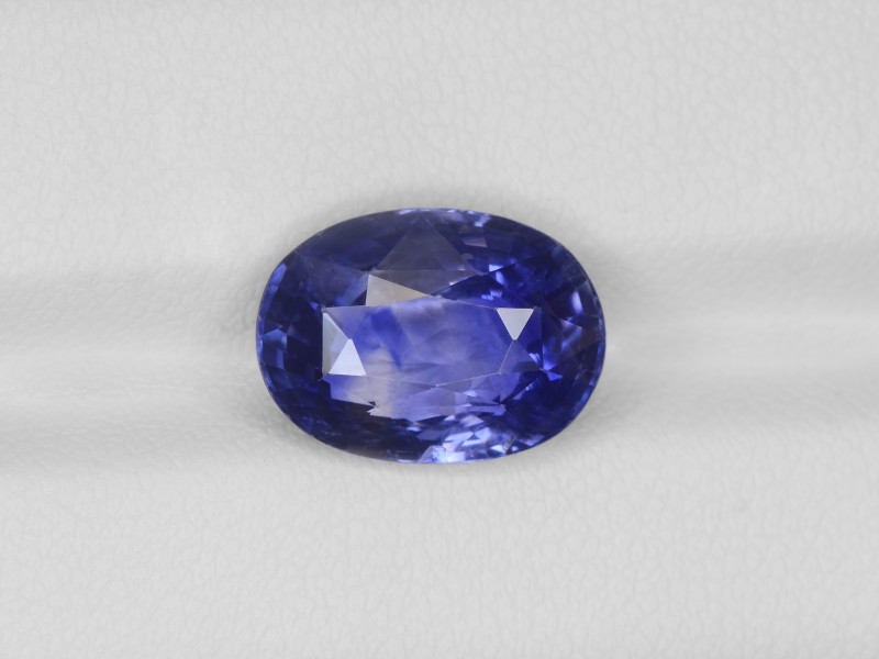 Blue Sapphire, 7.60ct - Mined in Kashmir | Certified by GIA & IGI