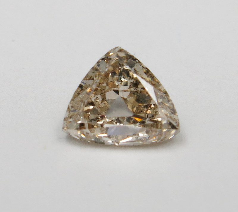 1.00ct Fancy pinkish Brown Natural Diamond Trilliant HRD certified