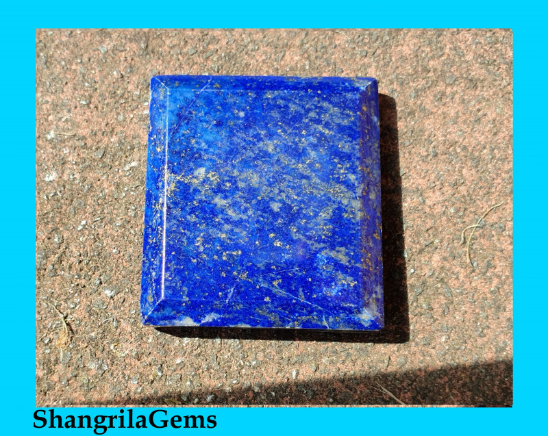 43mm 187ct Lapis Lazuli rectangle square shape cabochon 43 by 37 by 8mm AAA