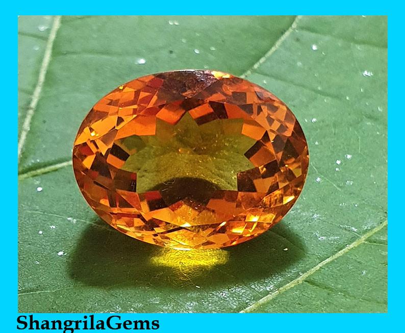 14.5mm oval Madeira Citrine rich deep orange 11.8ct
