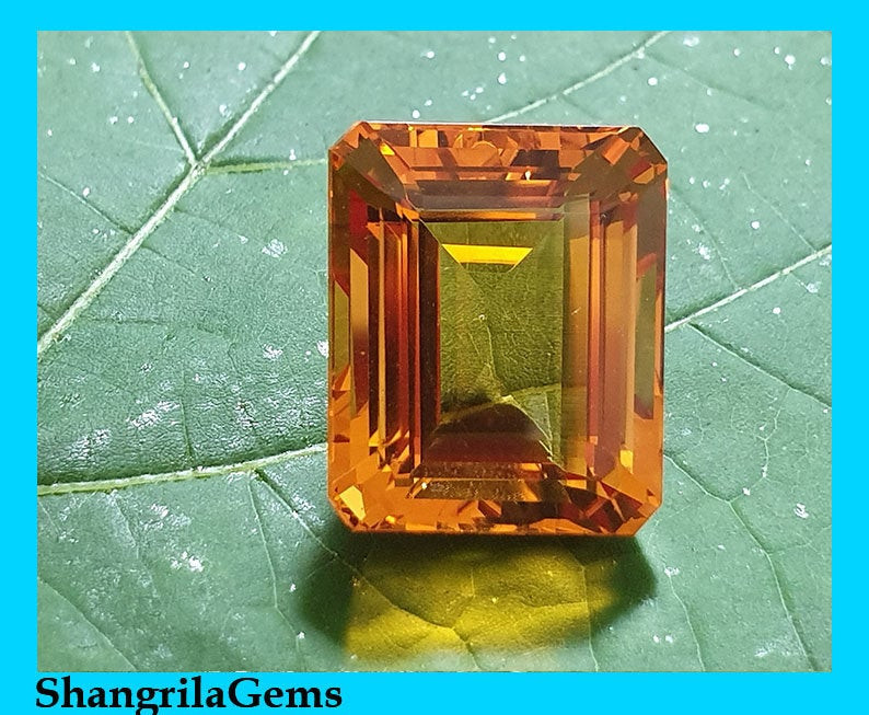 17.6mm Madeira Citrine Octagon rectangle step cut 17.6 by 15.5 by 11.15mm 2