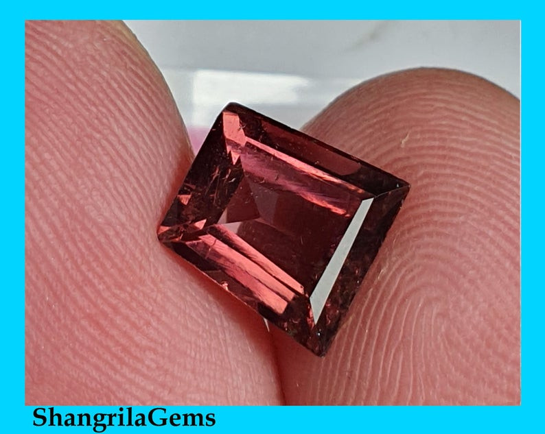 10.5mm Pink Rubellite Tourmaline Irregular Freeform 2.15ct 10.5 by 10.3 by