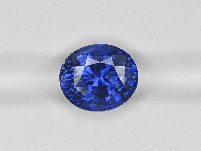 Blue Sapphire, 5.30ct - Mined in Madagascar   Certified by GIA & GRS