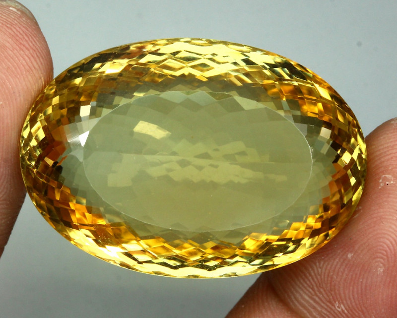 95.46ct.  100% Natural Top Rich Yellow Citrine Unheated Gem Big