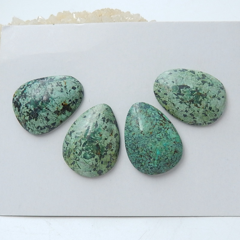 Lucky African Turquoise ,Handmade Gemstone ,African Turquoise Cabochons ,Lu