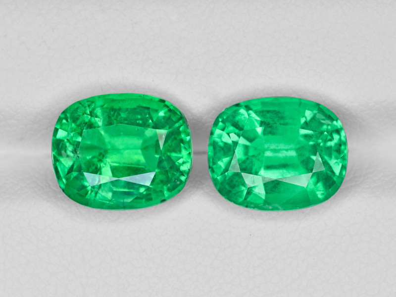 Pair of Emeralds, 7.44ct - Mined in Ethiopia | Certified by GRS