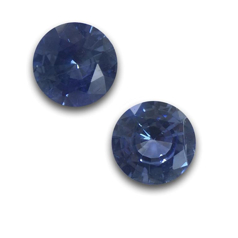 Natural Blue Pair Sapphire |Loose Gemstone| Sri Lanka-New