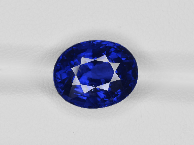 Blue Sapphire, 7.05ct - Mined in Kashmir | Certified by GIA